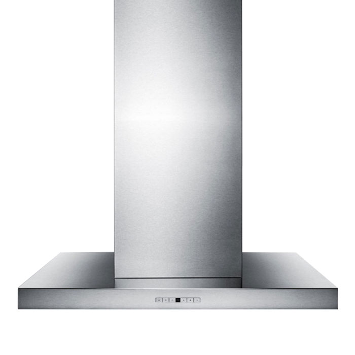"Summit SEIH4636CV4 36"" European 600 CFM Ducted Range Hood w/ 4-Speed Fan, 115v"