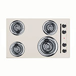 Summit Refrigeration SEL05 30-in Cooktop w/ 8-in Element & (3)6-in Coil Elements, Porcelain, 220/1V, Bisque