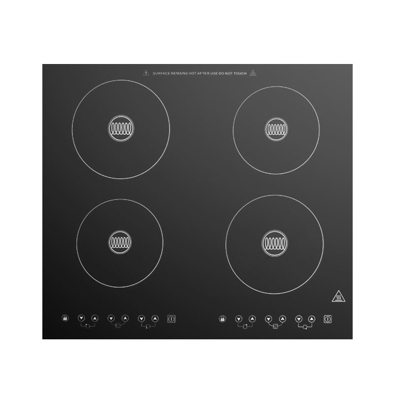 Summit Refrigeration SINC424220 Induction Cooktop w/ 4-Zones, Beveled Edges & Electromagnetic Heat, Black
