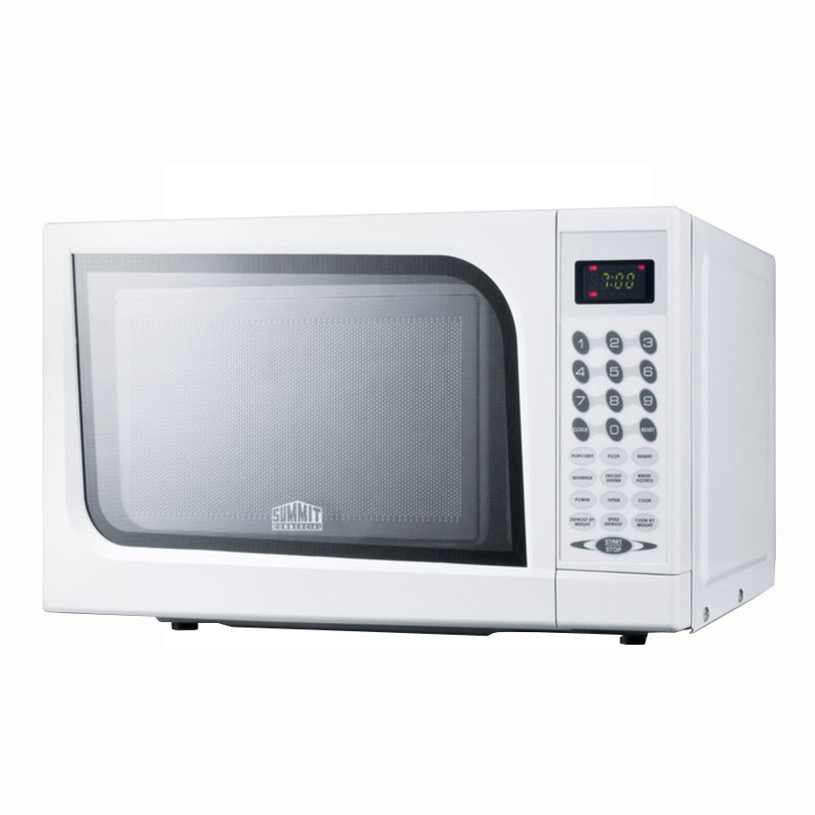"Summit Refrigeration SM901WH 17.75"" Multi-Power Microwave - 0.7 cu ft, White"