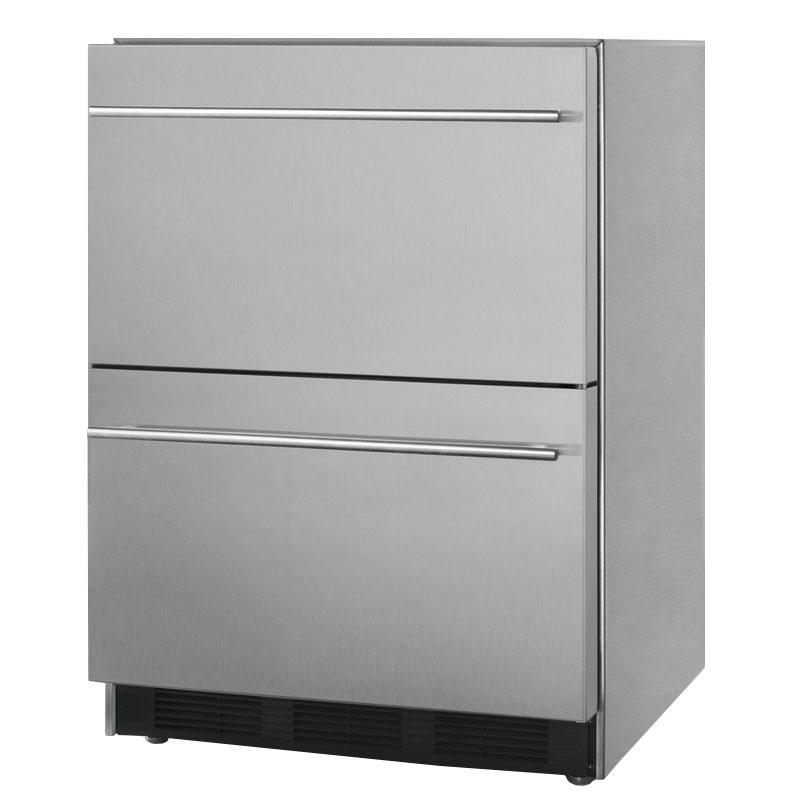 Summit SP6DS2D7 5.5-cu ft Undercounter Refrigerator w/ (1) Section & (2) Drawers, 115v
