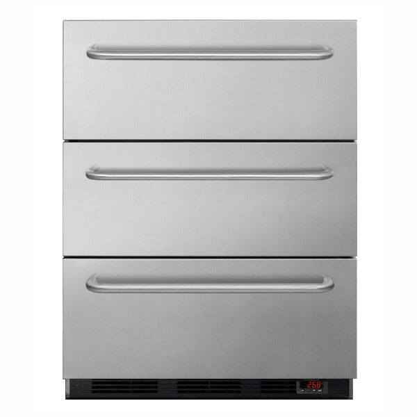 Summit SPF5DSSTB5ADA 3.2-cu ft Undercounter Freezer w/ (1) Section & (3) Drawers, 115v