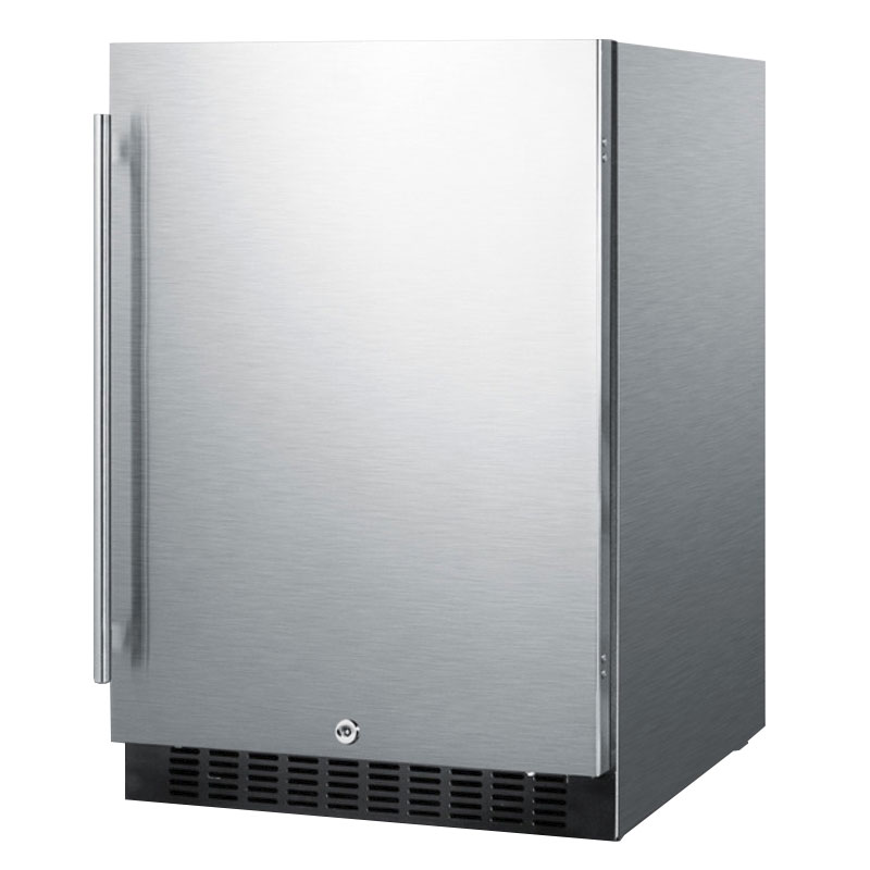 Summit Refrigeration SPR627OSCSS 4.6-cu ft Undercounter Refrigerator w/ (1) Section & (1) Door, 115v