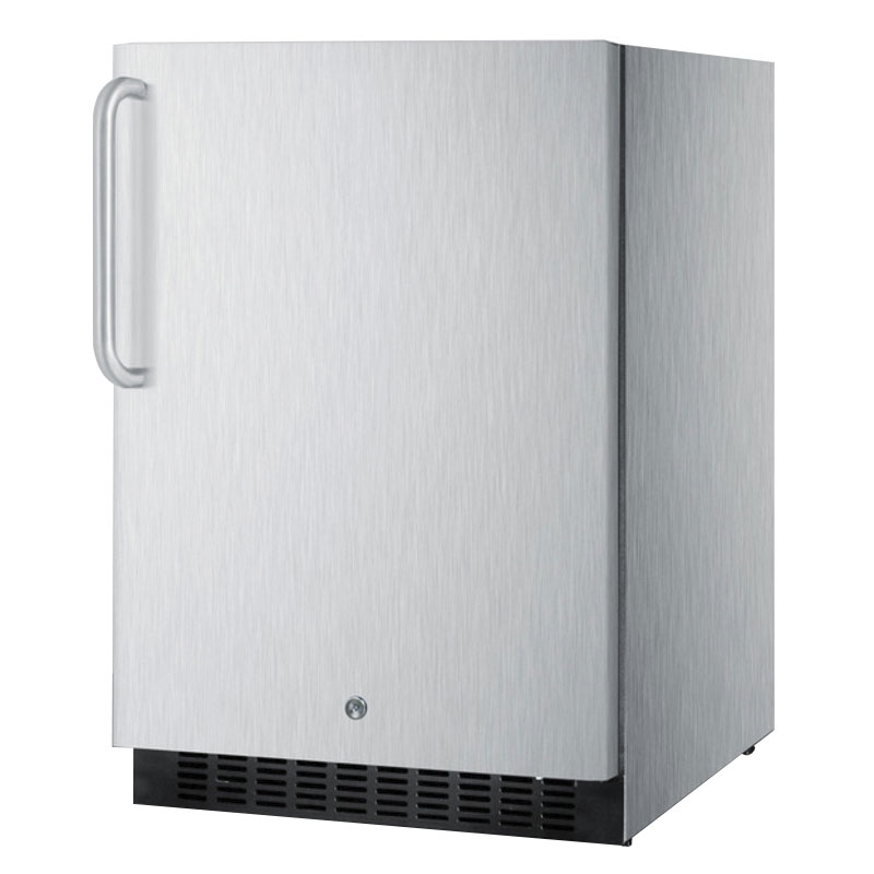 Summit SPR627OSCSSTB 4.6-cu ft Undercounter Refrigerator w/ (1) Section & (1) Door, 115v