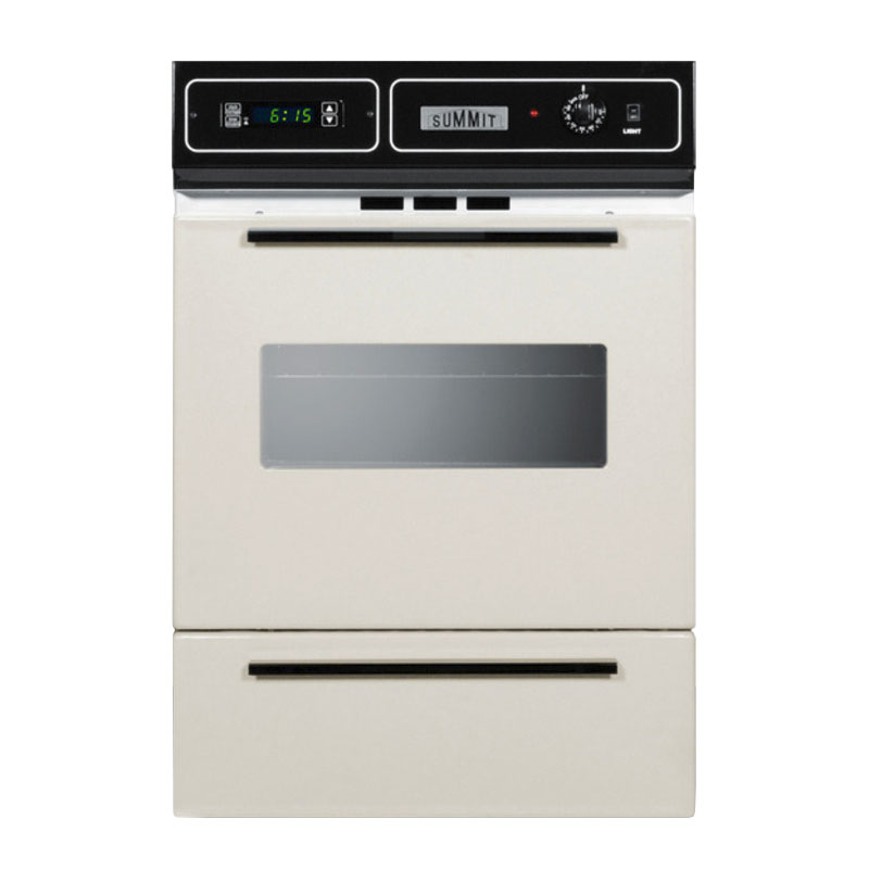 Summit STM7212KW Wall Oven w/ Electronic Ignition, Digital Clock & Oven Window