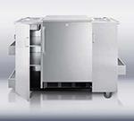 Summit Refrigeration CARTOSSPR7 Outdoor Serving Cart w/ Bottle Opener, Refrigerator & Auto Defrost, Stainless