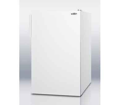 Summit CM4057ADA 20-in Freestanding Refrigerator Freezer w/ Manual Defrost, 4.1-cu ft, White, ADA