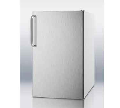 Summit CM4057SSTBADA 20-in Freestanding Refrigerator Freezer w/ Manual Defrost, White/Stainless, 4.1-cu ft ADA