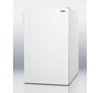 Summit Refrigeration CM405 Freestanding Undercounter Refrigerator Freezer w/ Flat Door Liner, 4.1-cu ft