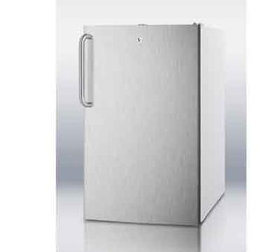 Summit Refrigeration CM411L7SSTB 20-in Freestanding Refrigerator Freezer w/ Towel Bar Handle, 4.1-cu ft, White