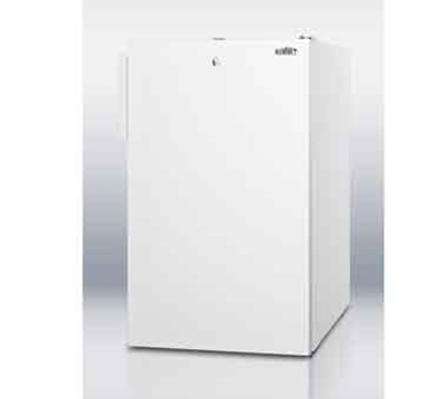 "Summit CM411L7 20"" Freestanding Refrigerator Freezer w/ Front Lock, 4.1-cu ft, White"
