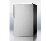 Summit Refrigeration CM421BL7SSTB 20-in Freestanding Refrigerator Freezer w/ Towel Bar Handle, 4.1-cu ft, Black