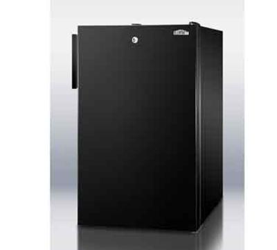 Summit Refrigeration CM421BLBI7 20-in Undercounter Refrigerator Freezer w/ Front Lock, 4.1-cu ft, Black