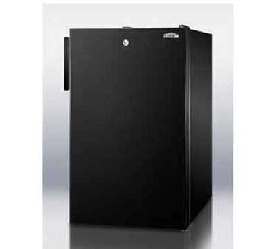 Summit Refrigeration CM421BL7 20-in Freestanding Refrigerator Freezer w/ Front Lock, 4.1-cu ft, Black