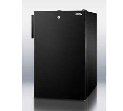 Summit Refrigeration CM421BL7ADA 20-in Freestanding Refrigerator Freezer w/ Front Lock, 4.1-cu ft, Black, ADA