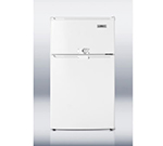 Summit Refrigeration CP35LLF2 20-in Freestanding Refrigerator Freezer w/ Combination Lock, 2.9-cu ft, White
