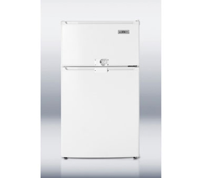 Summit CP35LLF2 20-in Freestanding Refrigerator Freezer w/ Combination Lock, 2.9-cu ft, White