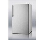 Summit Refrigeration FF41ESSSHV Refrigerator Freezer Combo w/ Stainless Door, Counter Height, 3.6-cu ft, White