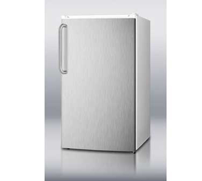 Summit FF41ESSSTB Refrigerator Freezer Combo w/ Counter Height & Auto Defrost, White/Stainless, 3.6-cu ft