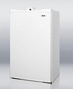 Summit Refrigeration FF410WHL Refrigerator Freezer w/ Front Lock, 3.6-cu ft, White