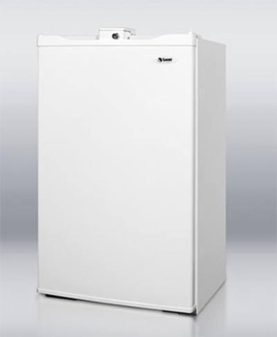 Summit FF410WHL Refrigerator Freezer w/ Front Lock, 3.6-cu ft, White