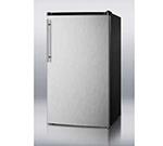 Summit Refrigeration FF43ESSSHV Refrigerator Freezer w/ Stainless Door, Counter Height, 3.6-cu ft, Black, ADA