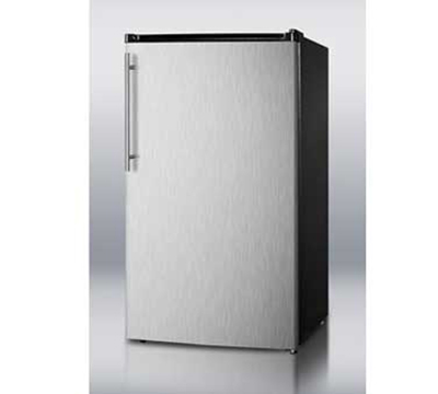 Summit Refrigeration FF43ESSSHVADA Refrigerator Freezer w/ Door Storage & Auto Defrost, Black/Stainless, 3.6-cu ft, ADA