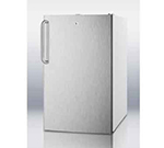 Summit FF511L7SSTB 4.1-cu ft Undercounter Refrigerator w/ (1) Section & (1) Door, 115v