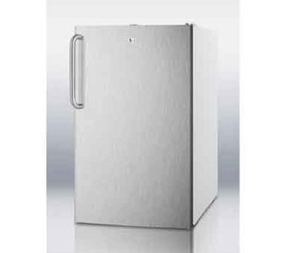 Summit Refrigeration FF511L7SSTB 4.1-cu ft Undercounter Refrigerator w/ (1) Section & (1) Door, 115v