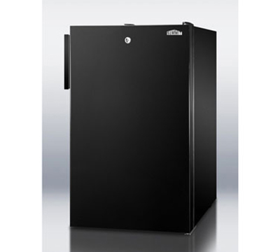 Summit Refrigeration FF521BL 4.1-cu ft Undercounter Refrigerator w/ (1) Section & (1) Door, 115v