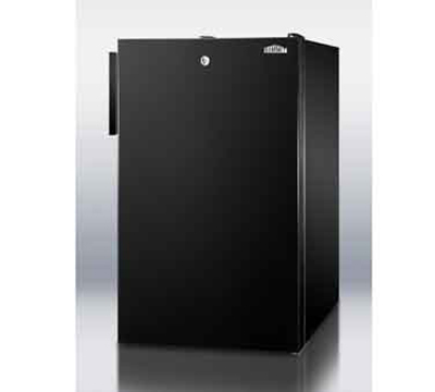 Summit Refrigeration FF521BLBI7 4.1-cu ft Undercounter Refrigerator w/ (1) Section & (1) Door, 115v