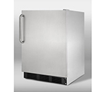 Summit Refrigeration FF7BCSSADA 5.5-cu ft Undercounter Refrigerator w/ (1) Section &