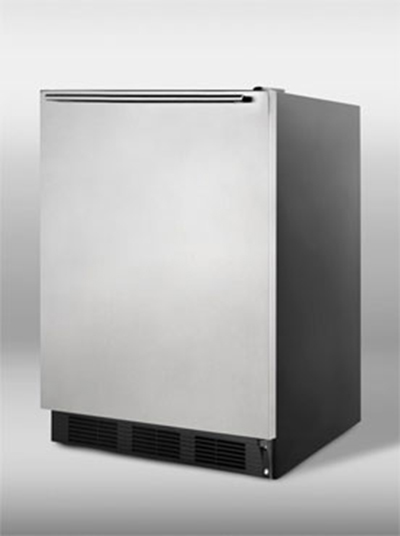 Summit Refrigeration FF7BSSHH 5.5-cu ft Undercounter Refrigerator w/ (1) Section & (1) Door, 115v