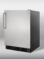 Summit Refrigeration FF7BSSTB 5.5-cu ft Undercounter Refrigerator w/ (1) Section & (1) Door, 115v
