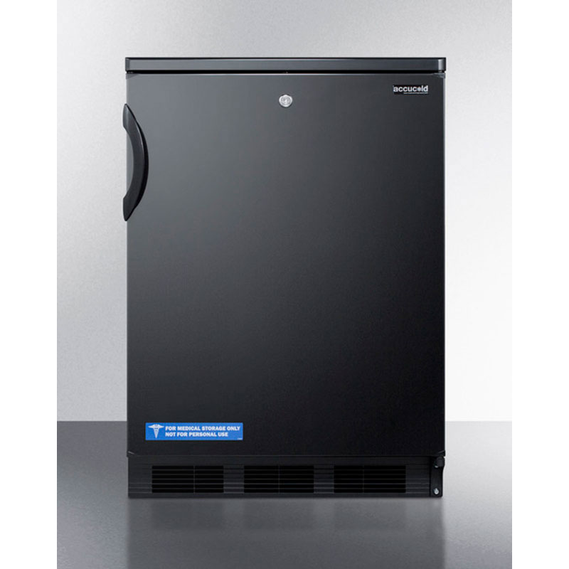Summit Refrigeration FF7LBL 5.5-cu ft Undercounter Refrigerator w/ (1) Section & (1) Door, 115v