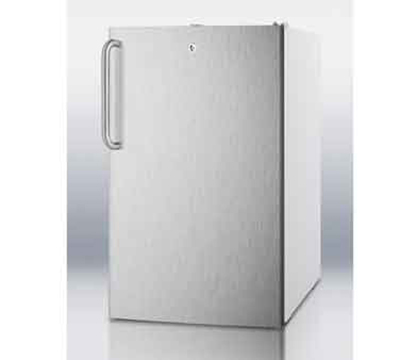 Summit Refrigeration FS407LBI7SSTB 2.8-cu ft Undercounter Freezer w/ (1) Section & (1) Door, 115v