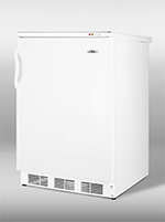 Summit Refrigeration VT65M Undercounter Freezer w/ 1-Section, Reversible Door & Manual Defrost, White, 3.5-cu ft