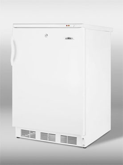 Summit Refrigeration VT65ML Undercounter Freezer w/ 1-Section, 3-Removeable Baskets & Manual Defrost, White, 3.5-cu ft