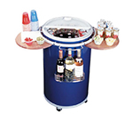 Summit PCC50BLUE Outdoor Party Cooler w/ 72-Can Capacity, Lift Up Lid & Bottle Hanging Basket, Blue