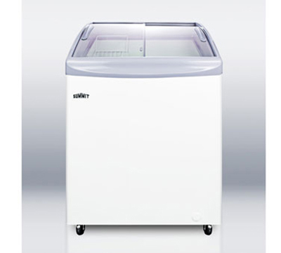 Summit Refrigeration SCF695S Chest Freezer w/ 1-Section, 6-Tub Capacity & Manual Defrost, White, 5.8-cu ft