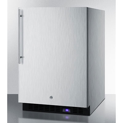 Summit Refrigeration SCFF51OSSSHV 4.9-cu ft undercounter Freezer w/ (1) Section & (1) Door, 115v