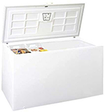 "Summit SCFR220 65"" Chest Refrigerator w/ Lift-Up Lid, White, 11.5-cu ft"
