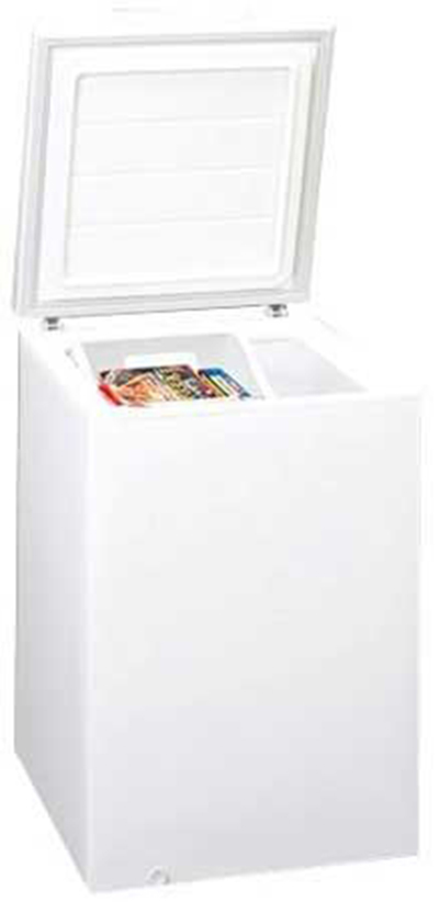"Summit Refrigeration SCFR50 24"" Chest Refrigerator w/ Lift-Up Lid, White, 4.5-cu ft"