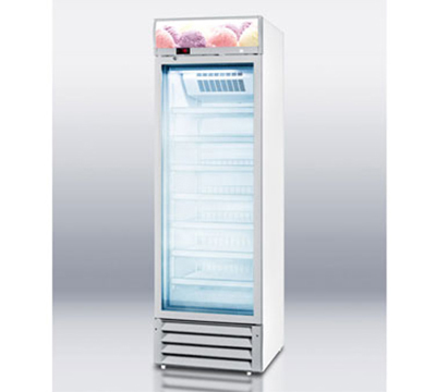 Summit SCFU1375 Reach In Freezer Merchandiser w/ 1-Section, Fan Forced Cooling & 7-Shelves, 11.2-cu ft