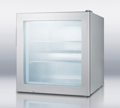 "Summit Refrigeration SCFU386 23.68"" One-Section Display Freezer w/ Swinging Door - Rear Mount Compressor, 115v"