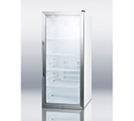 "Summit SCR1005 22"" One-Section Refrigerated Display w/ Swing Door, Bottom Mount Compressor, 115v"