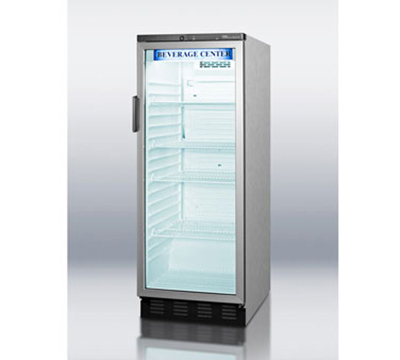 "Summit Refrigeration SCR1150CSS 24"" One-Section Refrigerated Display w/ Swing Door, Bottom Mount Compressor, 115v"