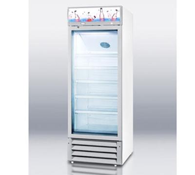 Summit Refrigeration SCR1275 Full Size Beverage Merchandiser w/ Lighted Header, Lock, Interior Light & Adjustable Shelf