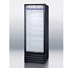 "Summit SCR1505 28"" One-Section Refrigerated Display w/ Swing Door, Bottom Mount Compressor, 115v"