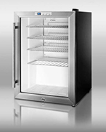 "Summit Refrigeration SCR312L 17"" Countertop Refrigeration w/ Front Access - Swing Door, Black, 115v"